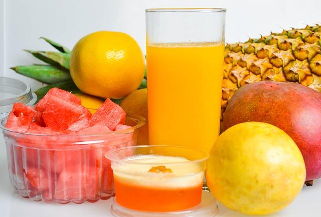jugos y frutas