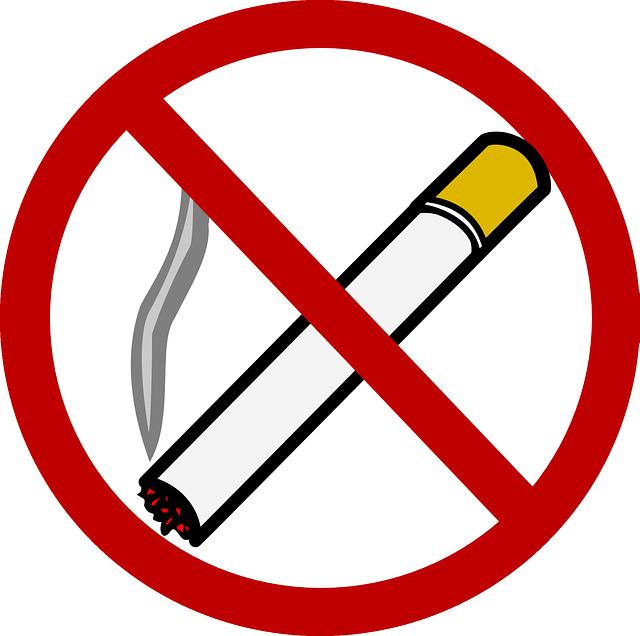 simbolo de no fumar